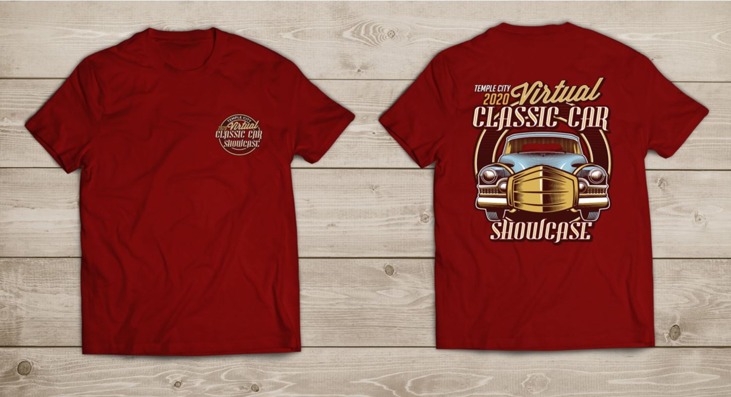 Classic Car Showcase T-shirt Mock Up